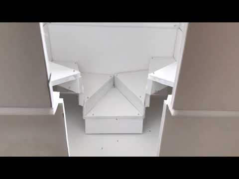 Uniquely Designed Tiny House Interior with FLIPPED Floorplan - 3D Scale Model