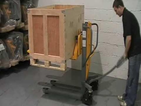 Hst 0809 Manual High Lift Pallet Truck Youtube