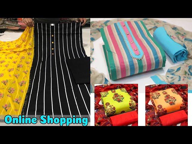 Buy Partywear Salwar Kameez / Cotton Suits @ Low Price #onlineshopping #cottonsuits #salwarkameez