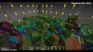 1000 ZOMBIES VS 1000 VILLAGERS | MINECRAFT EXPERIMENT