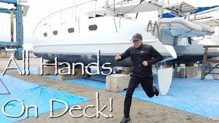 All hands on deck! Responding To An Emergency In The Yard. Onboard Lifestyle ep.70