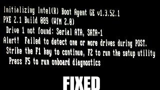 Drive 1 Not Found Error on Boot up Quickly Fixed