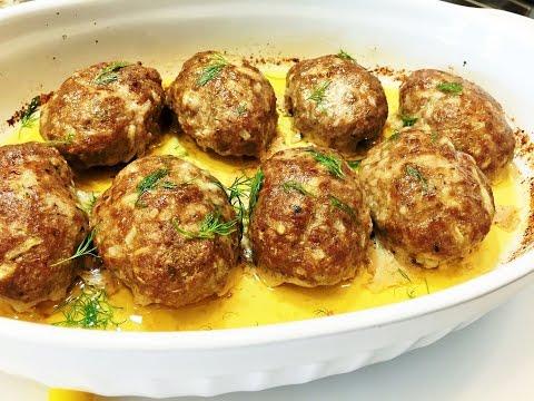Как приготовить сочные и нежные котлеты в духовке.  Meatballs in the oven.