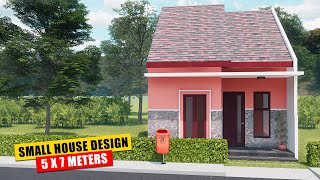 Small House Design  5 X 7,5 Meters  With Garden