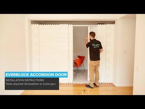 EverBlock Accordion Door Installation   HOW TO