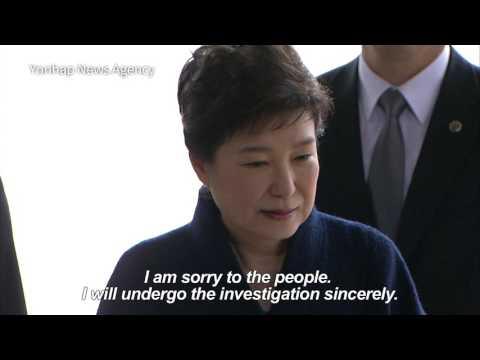 South Korean ex-president Park interrogated by prosecutors