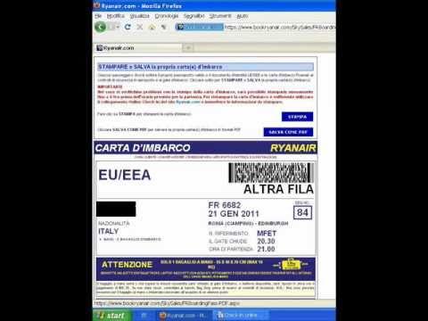 Ryanair online inchecken