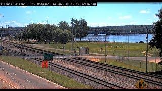 Ft. Madison, Iowa USA    Virtual Railfan LIVE