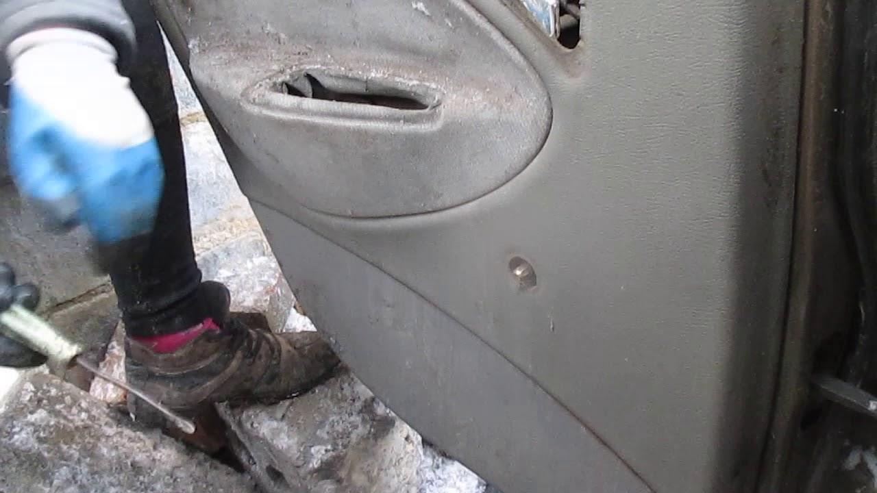 chevrolet lanos снятие обшивки дверей