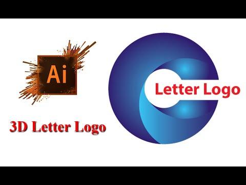 Adobe Illustrator CC Letter logo | 3D Logo Design Tutorial | Logo Design Tutorial . thumbnail