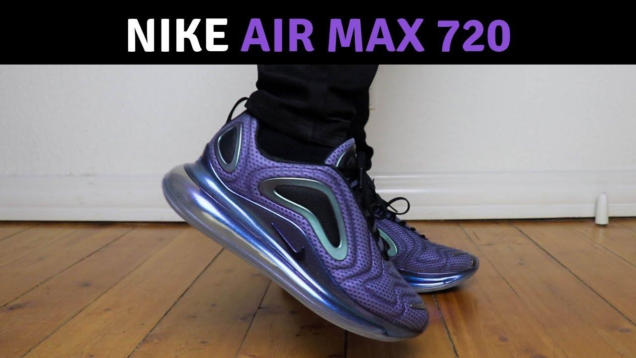782b3ae33cdd Nike Air Max 720 Northern Lights On Feet - YouTube