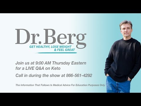 Join Dr. Eric Berg Live Q&A on Keto (Part 2 Continuation)