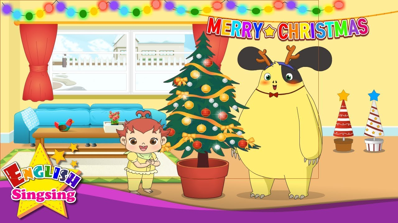 Deck the Halls - Christmas Song for kids - with Lyrics - YouTube