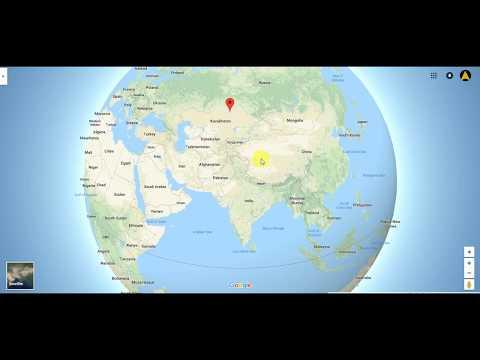 Map Study of Kazakhistan, Turkmenistan, Kyrgyzstan, Uzbekistan Tajikistan etc