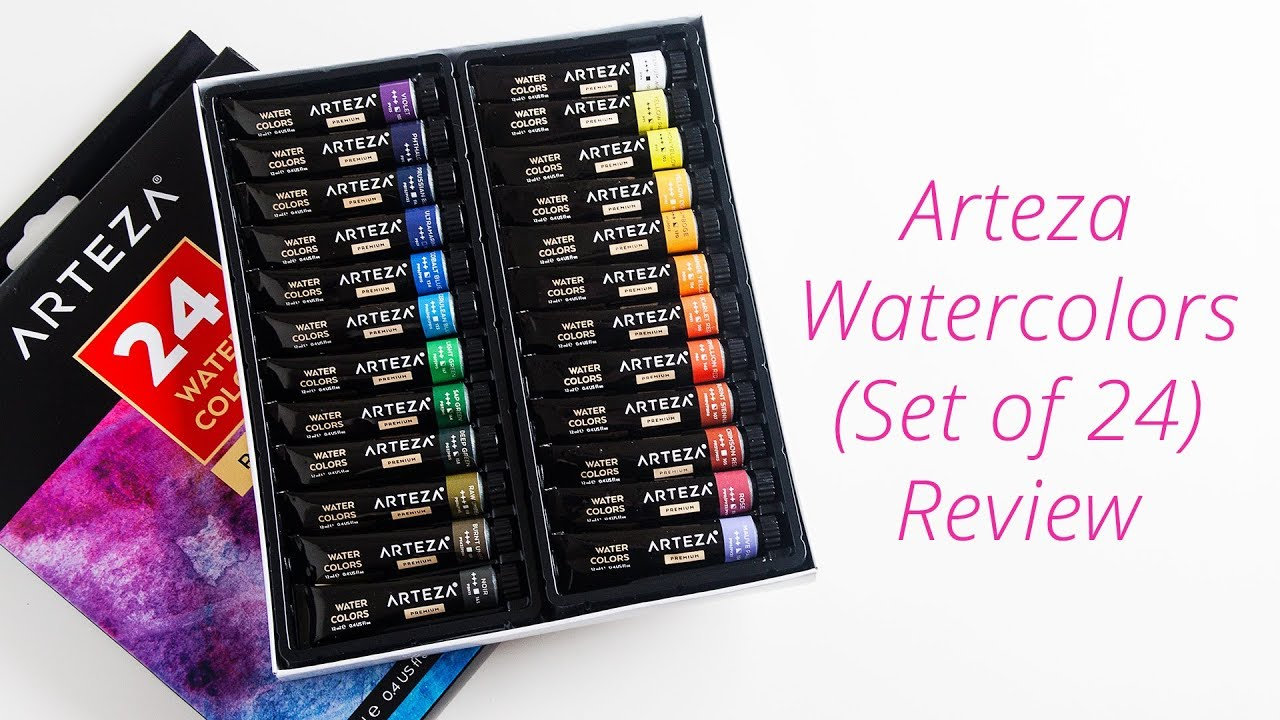 Arteza Watercolor Review (Set of 24) - YouTube