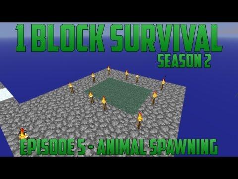 1 Block Survival - Season 2 - Episode 5 - Animal Spawning
