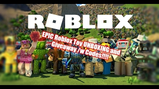 EPIC Roblox Toy UNBOXING and GIVEAWAY!!! | Kid Friendly Videos!