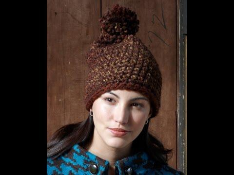 Cómo tejer Gorro con pom pom en Crochet- Patron de # Lion Brand ...