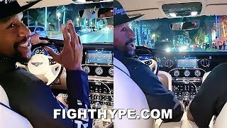 "MAYWEATHER RIDIN IN HIS ""COCAÍNA"" ALL-WHITE TOYS; ""OWNING"" THE STREETS OF MIAMI"