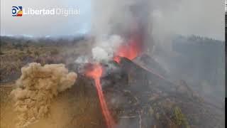 Se retrasa la llegada de la lava al mar en la erupción de La Palma