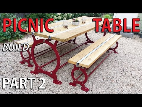 Steel Picnic Table - PART 2 - ASSEMBLY OF THE NOT so DIY patio garden table