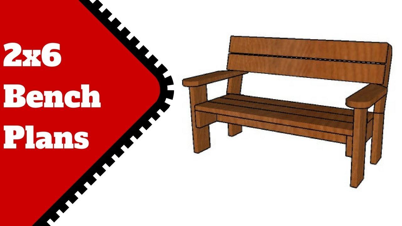 2x6 Garden Bench Plans Free Youtube