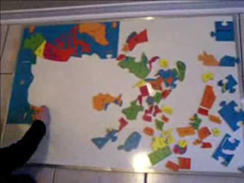 2 Yr Old Adryan And North America Map Puzzle Fast Youtube