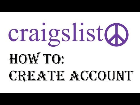 Craigslist Account Sign up How to Setup Create an Account on Craigslist