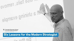 Six Lessons for the Modern Strategist