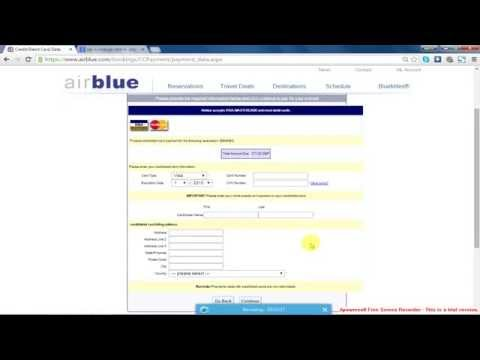 Booking Airline Ticket by Master or Visa card and Extra deduction