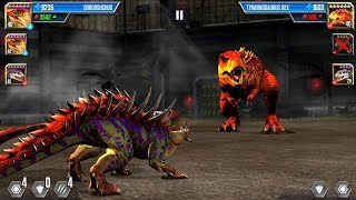 TYRANNOSAURUS REX VS GORGOSUCHUS - Jurassic World The Game Android Gameplay