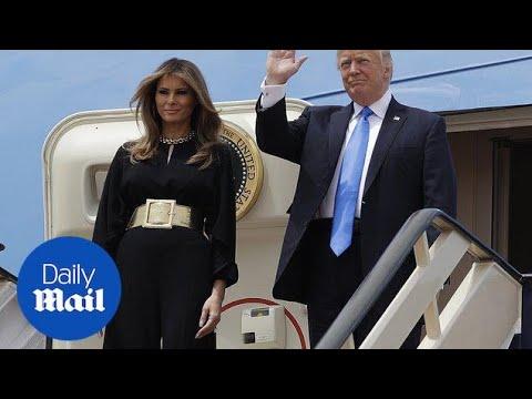 US President Trump arrives in Saudi Arabia - Daily Mail