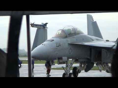 F-18 SUPER HORNET FORÇA AÉREA AMERICANA. TAXIANDO NA AFA 2012
