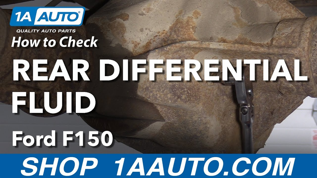 How To Check Rear Differential Fluid 09 14 Ford F 150