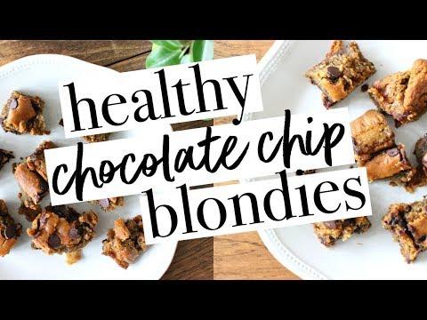 HEALTHY CHOCOLATE CHIP BLONDIES | Simple, Real Ingredients + Easy!!