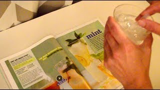 Asmr - Recipe Magazine Reading with a Glass of Ice Water - Softly Spoken