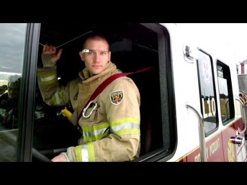 Using Google Glass to fight fires