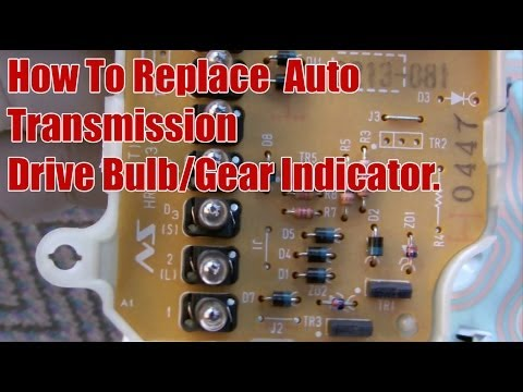 How To Replace Honda CRV Auto Transmission Drive Bulb / Gear Indicator