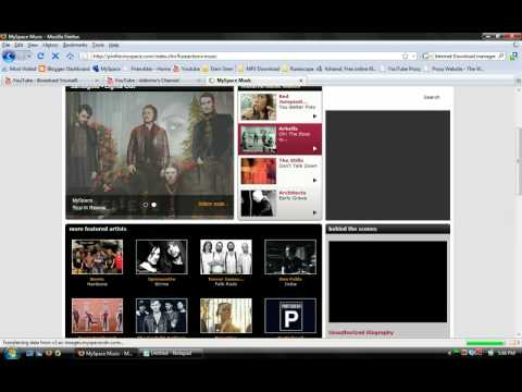 How To Download mp3 from any website myspace etc.