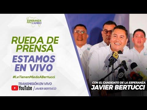 Rueda de prensa: Javier Bertucci - Plan de gobierno y exigencias de garantías electorales