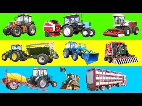 Мультик про комбайн Мультик про машинки Мультик про трактор Сельхозтехника для детей