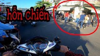 Hỗn chiến trên đường bào tour Nha Trang(Moto Vlogs)