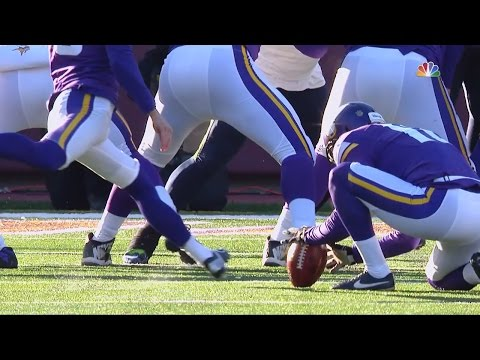 Blair Walsh Misses  27 Yard Field Goal to Win Game!