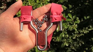 How to make a small steel rod slingshot for flat bands - a tutorial
