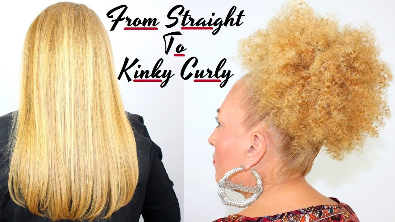 How To Make Straight Hair Beautiful Tight Kinky Curly