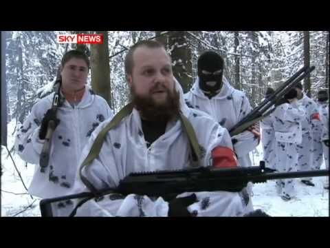 Russia Neo-Nazis: Sky News Reveals Gang Training