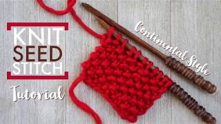 Knit Seed Stitch - Continental Style