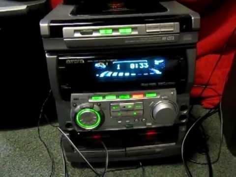 The AIWA CX NA50 Is Playing A CD
