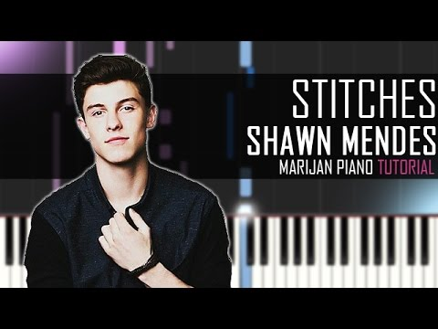 how to play stitches on the piano