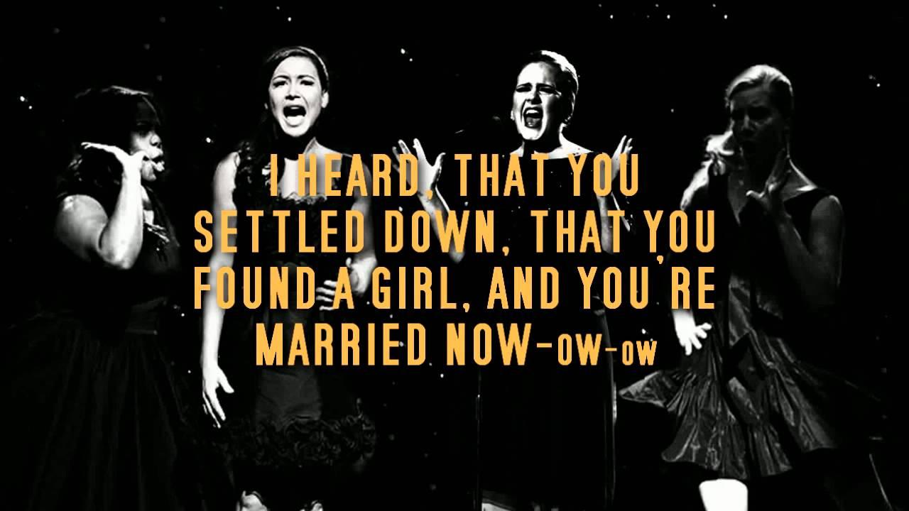 Rumour Has It Someone Like You Karaoke Instrumental Glee Adele Version Mp